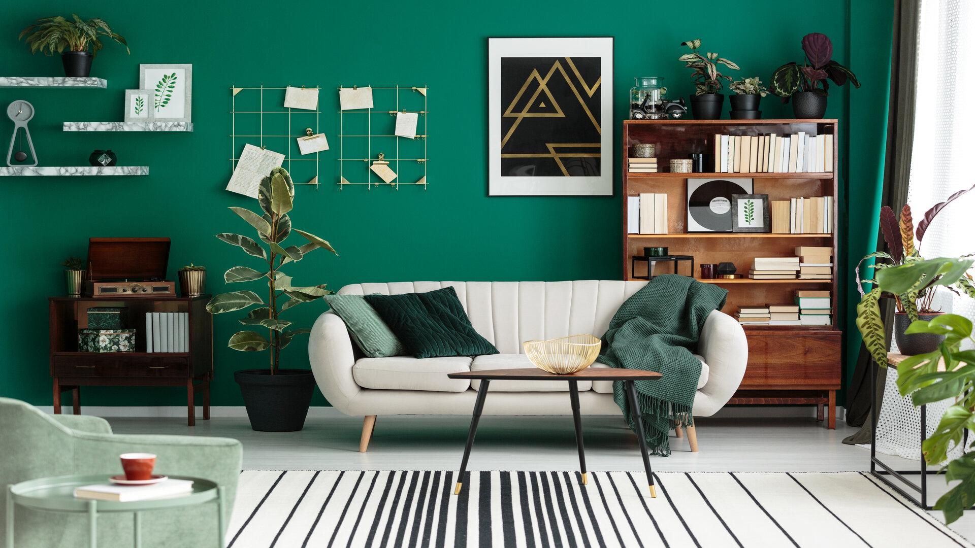 Tendance Deco 2019 Salon décoration salon green : nouvelle tendance qui fait fureur